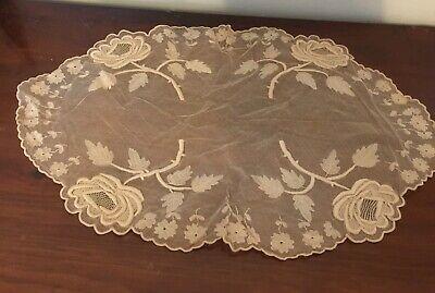 Georgeous Large Vintage Lacy Ecru Table Cover 60cm Length