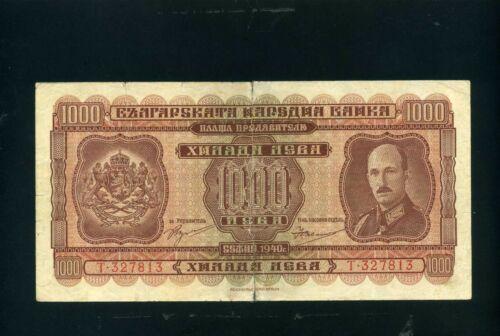 Bulgaria 1000 1.000 leva 1940 - VG