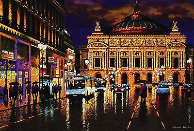 """MICHAEL LAWES """"Avenue de l'Opera"""" paris garnier LTD ED! SIZE:45cm x 64cm NEW"""