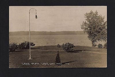 Lake City Minnesota Mn C1910 Rppc City Park Mississippi River Banks  Old Light
