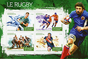 Guinea 2015 MNH Rugby 4v M/S Sports