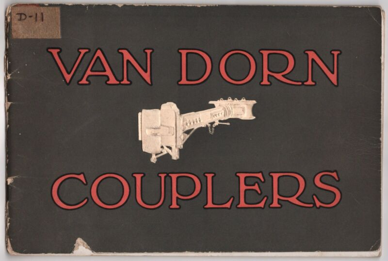 RARE 1923 VAN DORN STEAM TRAIN COUPLERS  CATALOGUE ELECTRIC RAILWAY