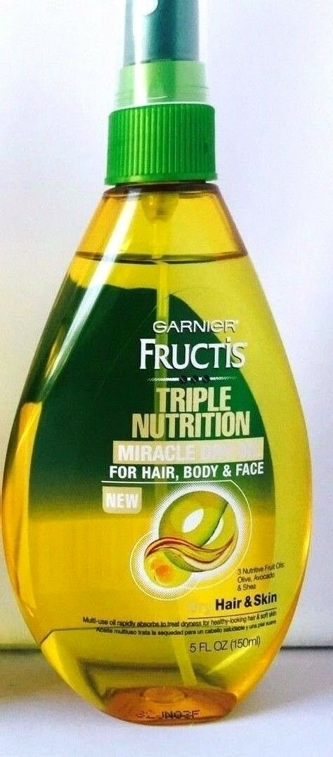 Garnier Fructis Triple Nutrition Miracle Dry Oil for Hair, F