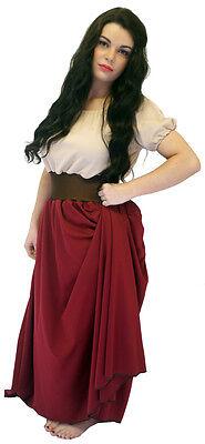 Viktorianisch/Zigeuner/Oliver Bauer Mädchen Burgund Nancy Kleid Kostüm (Zigeuner Kostüm Mädchen)
