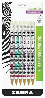 Zebra Cadoozles Mechanical 2 Pencil 0.9mm Point Size Standard Hb Lead Assorted