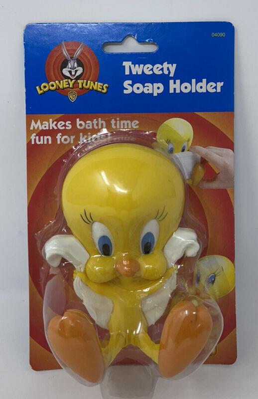 1998 Looney Tunes Tweety Bar Soap Holder NIP VTG Tub Shower Sink Bathroom NEW