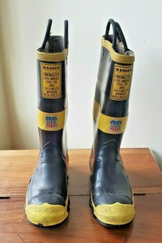 Vintage Ranger Rubber Co Firemaster Steel Midsole Insulated Boots Size 10