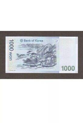 South Korea 1000 1,000 Won Korea Banknote Circulated, South Korean Won.