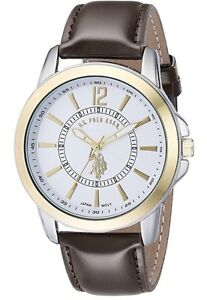 Authentic Polo leather gold watch