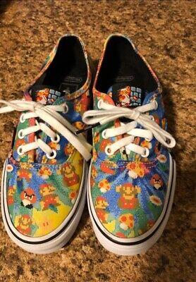 Vans Nintendo X Super Mario Bros Woman's Size 7 Skateboard Skate Shoes Game Over