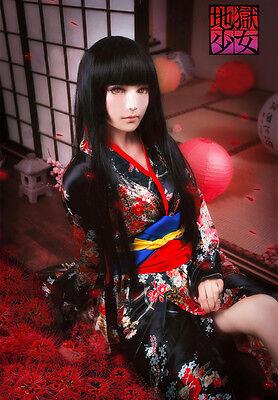 HELL-GIRL Jigoku Shojo Enma ai Cosplay costume Kostüm kimono japan Lolita Kleid