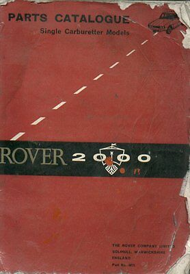 ROVER P6 2000 SC SALOON ( 1963 - 1966 ) ORIGINAL FACTORY SPARE PARTS CATALOGUE