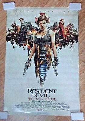 Resident Evil The Final Chapter 2017 Original Ds 2 Sided 27X40  Us Movie Poster