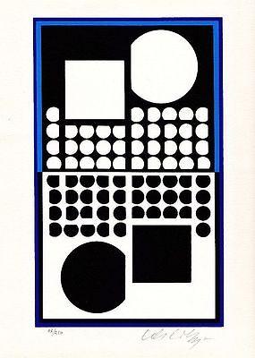 Victor Vasarely, Farbserigraphie auf Velin, signiert, nummeriert, um 1980