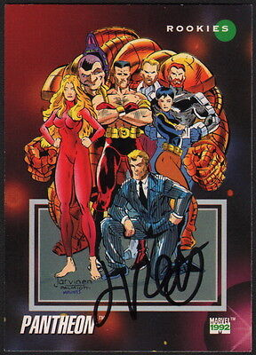 Jimmy Palmiotti SIGNED Marvel Universe 1992 Series III SIGNED Art Card Pantheon
