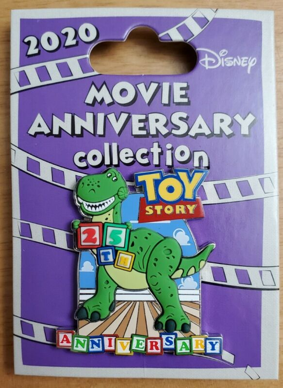 Disney Cast Exclusive 25th Anniversary Toy Story Rex Movie Pin LMT 1000