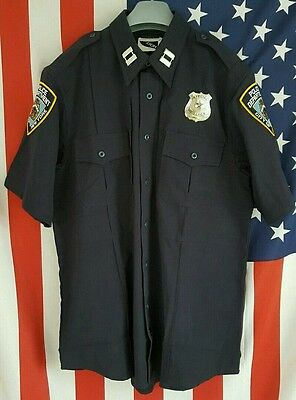 Police Uniform Shirt/Hemd, Cop, NYPD, LAPD, Gr: S, M, XXL, 3XL, New York Police