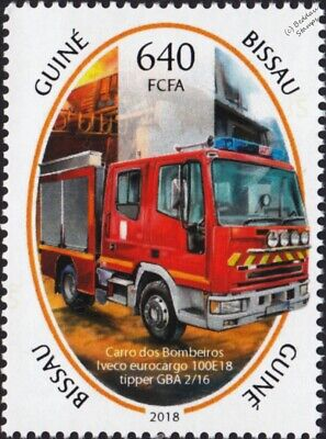 IVECO EuroCargo 100E18 GBA 2/16 Fire Engine Truck Firefighting Stamp (2018)