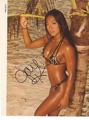 WWE WWF GAIL KIM SEXY AUTOGRAPHED HAND SIGNED 8X10 PHOTO WRESTLING PICTURE