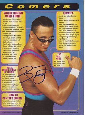 WWE WWF DANNY DORING AUTOGRAPHED HAND SIGNED 8X10 PHOTO WRESTLING PICTURE