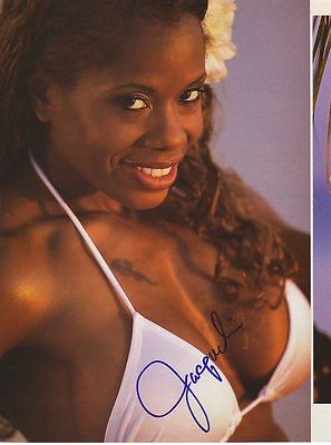 WWE WWF JACQUELINE SEXY AUTOGRAPHED HAND SIGNED 8X10 PHOTO WRESTLING PICTURE