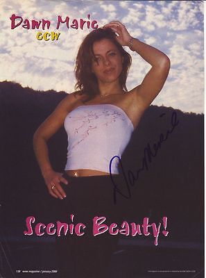 WWE WWF DAWN MARIE SEXY AUTOGRAPHED HAND SIGNED 8X10 PHOTO WRESTLING PICTURE