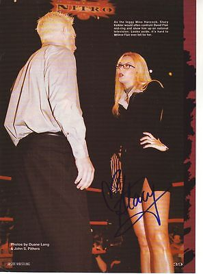 WWE WWF STACY KEIBLER SEXY AUTOGRAPHED HAND SIGNED 8X10 PHOTO WRESTLING PICTURE