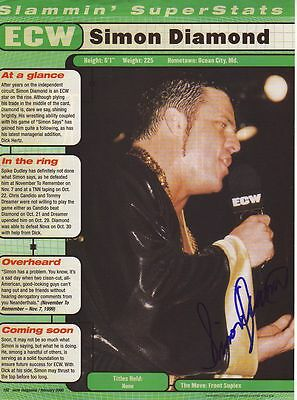 WWE WWF SIMON DIAMOND AUTOGRAPHED HAND SIGNED 8X10 PHOTO WRESTLING PICTURE