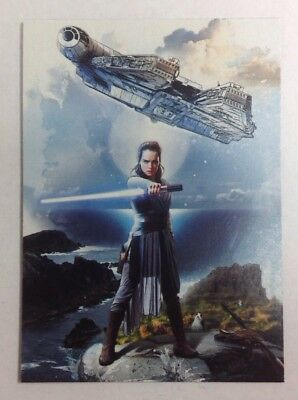 2017 TOPPS STAR WARS JOURNEY TO THE LAST JEDI REY CONTINUITY CARD #5 of 5