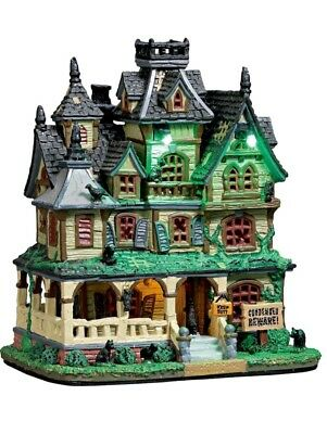 NEW 2017 Lemax Halloween Spooky Town Collection Haunted Mansion LIGHTS SOUND $89