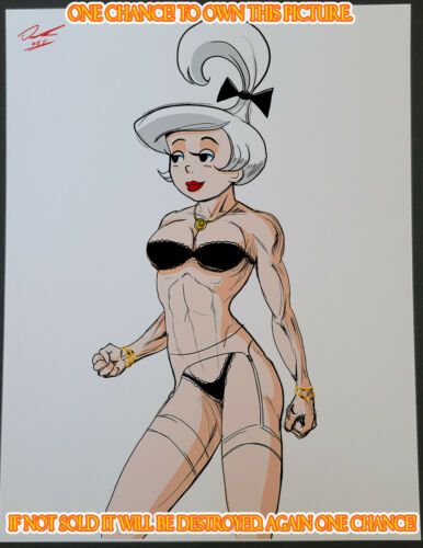 Judy Jetson CG Color Illustration Sign Print 8.5x11