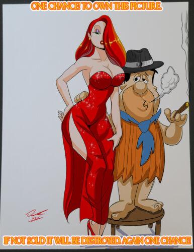 Jessica Rabbit CG Color Illustration Sign Print 8.5x11