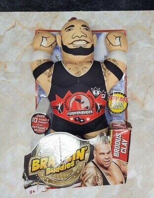 WWE Championship Brawlin' Buddies - Brodus Clay - New Damaged Box DEAD Batteries