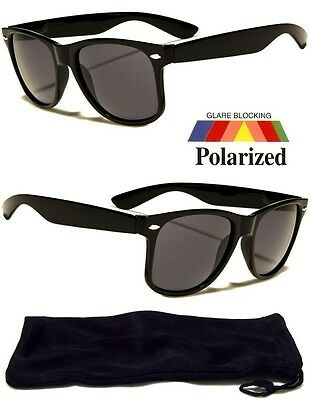 New Polarized Aviator Sunglasses Retro Glasses Vintage Frame Unisex Fashion Blk