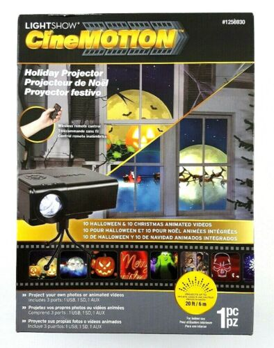 Gemmy CineMotion Holiday LED Projector w/ 10 Halloween 10 Christmas Animations