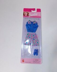 Barbie-Mattel-Go-In-Style-Fashions-Clothing-Clothes-Outfit-Skirt-Top-Shoes-1999