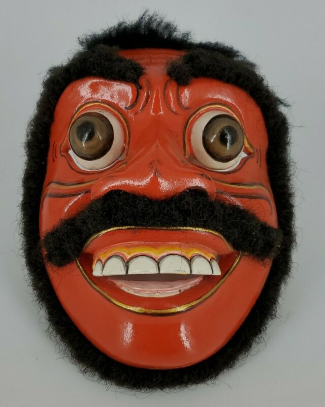 Topeng Bondres Mask Balinese by Ketut Sarwa Traditional Wood Dance Mask