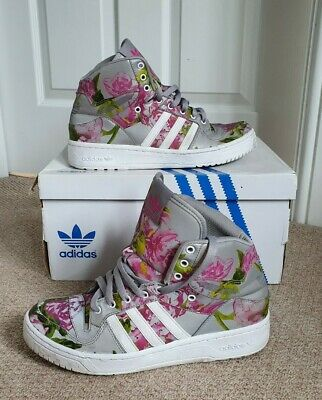 ADIDAS ORIGINALS JEREMY SCOTT WINGS FLORAL Trainers. Wings/Reflective. Size 9.