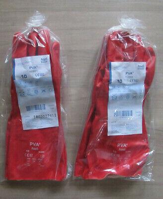 2 Paar PVA Chemikalien Schutzhandschuhe 15-554 Gr. 10 EN 420:2003 + A1:2009