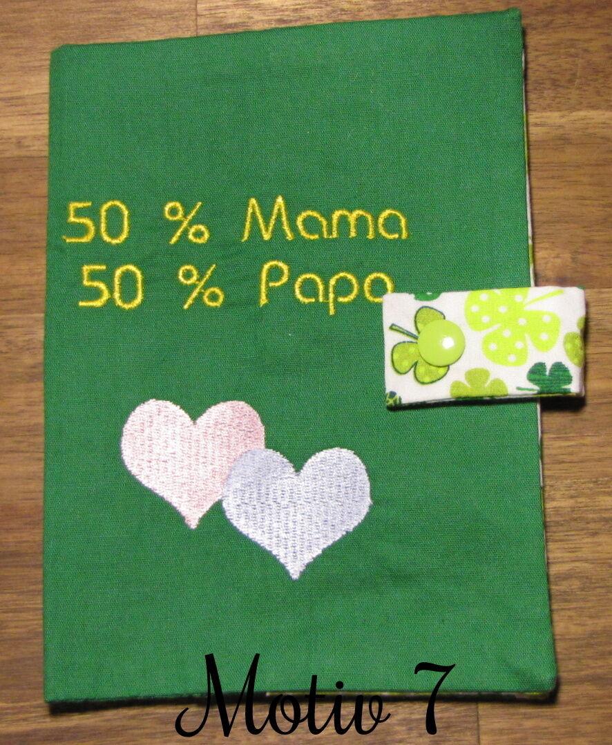 Mutterpasshülle | Geschenk | Handgemacht Grün Motiv 7