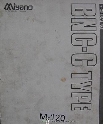 Miyano Bnc-c Type 88 03 Cnc Machine Lathe Programming Operations Manual