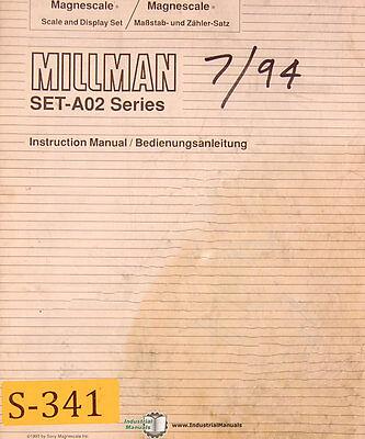 Sony Millman Set-a02 Dro System Eng Ger Operations Maintenance Manual 1994