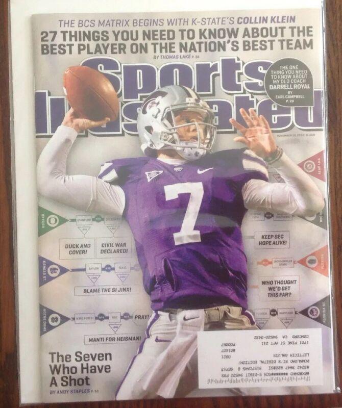 November 19th 2012 Sports Illustrated Magazine Collin Klein Cover