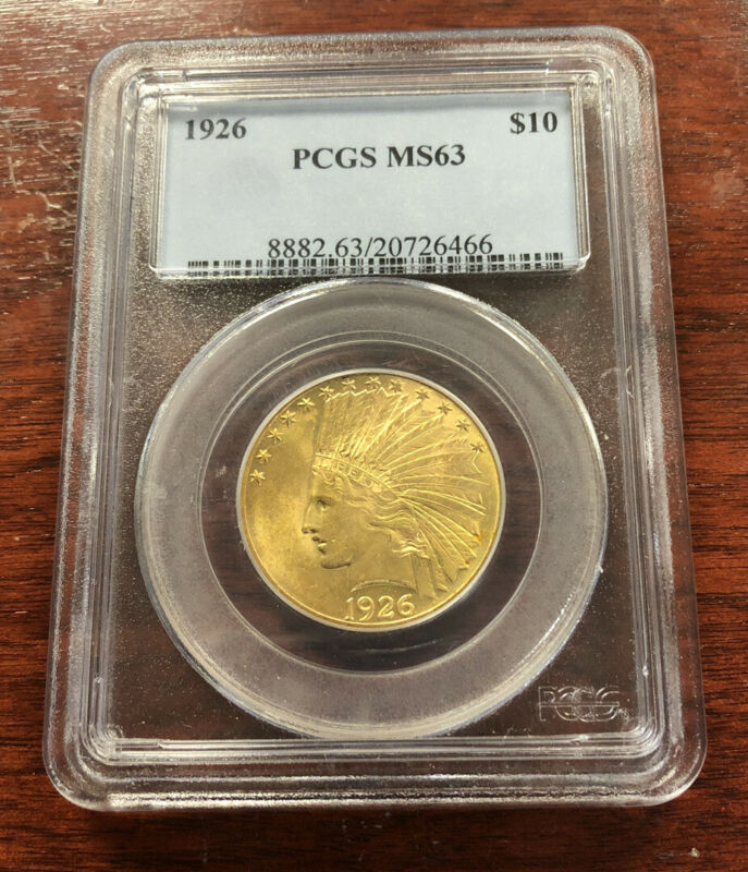 1926 $10 Indian Gold Eagle PCGS MS63