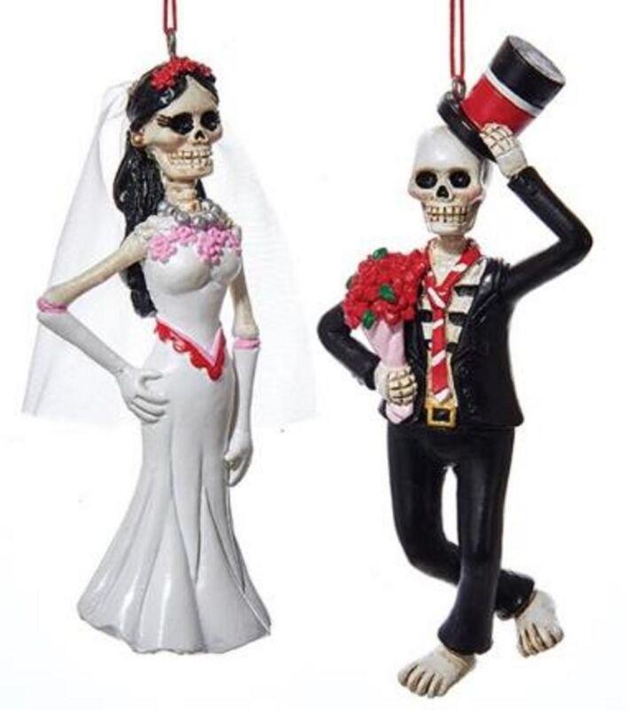Catrina & Catrine BRIDE & GROOM Day of the Dead Kurt Adler J8365