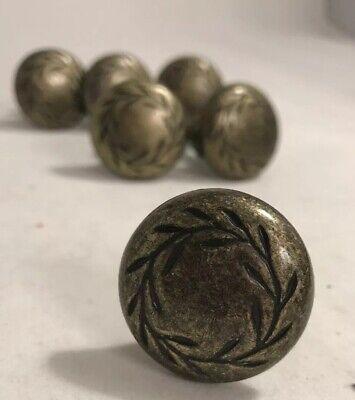 6 Amerock Nature's Splendor 1-5/16 in. (33 mm) Weathered Brass Cabinet Knob Amerock Nature Cabinet Knob