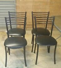 Glass table & 4 black dining chairs North Haven Port Adelaide Area Preview