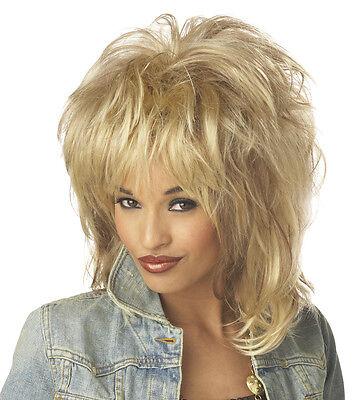 Rockin' Soul Tina Turner Diva Adult Costume Wig - Blonde - Tina Turner Costumes Adults