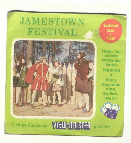 vintage SAWYERS viewmaster JAMESTOWN FESTIVAL reels VIRGINIA colonial John Smith