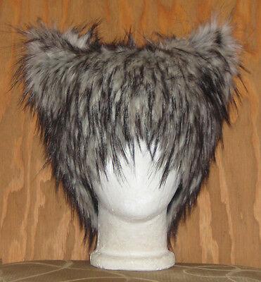 NEW BIG BAD WOLF HUSKY FUR HAT KITTY CAT ANIME COSPLAY SPIRIT WIG BURNER COSTUME